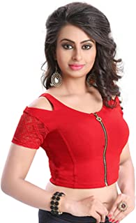 Fressia Fabrics Readymade Free Size Saree Blouse for Women Party wear Choli