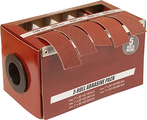Boxed Multi-Roll Assorted Abrasive Rolls For Wood Turners, Furniture Repair, Woodworkers, Metal Workers and Automotiv...