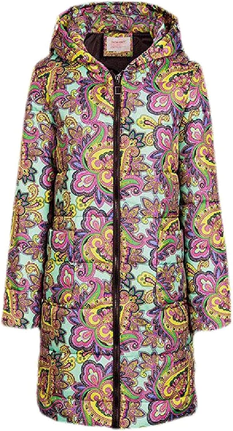 Women Padded Quilted Fashion Coat Long Warm Hooded Zip-Up Puffer Jacket,6,US 3X-Large