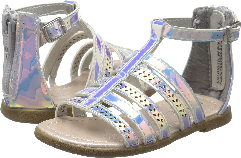 The Childrens Place Unisex-Child Holographic Gladiator Sandal