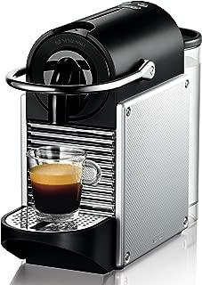 De'Longhi德龙 Nespresso EN 125.S胶囊咖啡机 Pixie Electric|1260W|0.7升|灵活的咖啡杯放置架放置不同杯子|银色