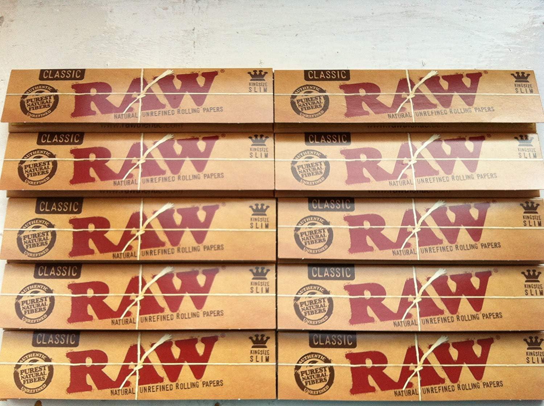 ITK_TRADE Raw King Size Slim-Papel de Liar, Juego de 10 Paquetes con 320Hojas