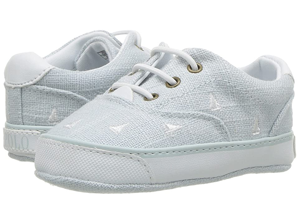Polo Ralph Lauren Kids Vaughn II (Infant/Toddler) (Blue Linen/White Sailboat Print) Boys Shoes