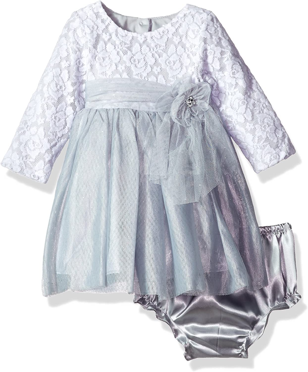 Youngland Girls' Baby Lace Bodice Sparkle Tulle Dress
