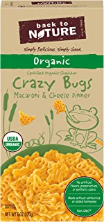 Back to Nature Organic Crazy Bugs Macaroni and Cheese, 6 oz Box
