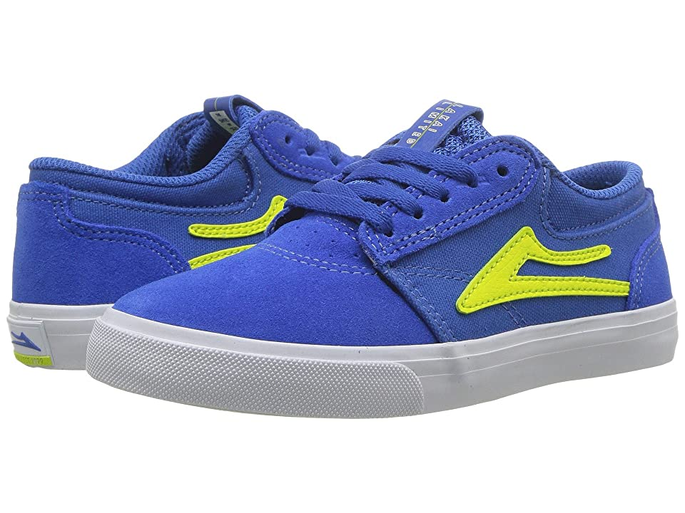 Lakai Griffin (Little Kid/Big Kid) (Blue/Yellow Suede) Men