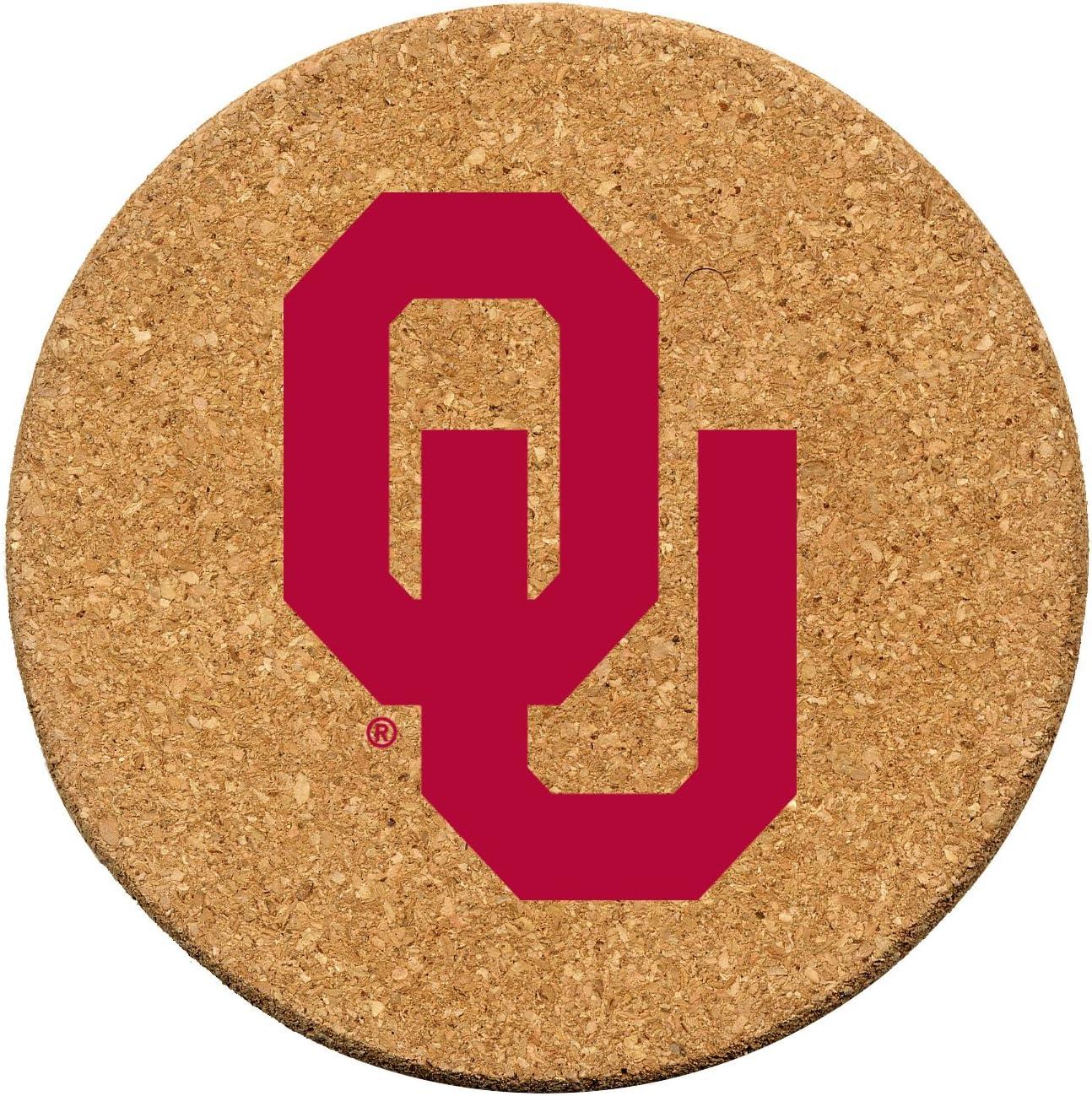 Thirstystone Topics on TV University of Oklahoma Cork Set Charlotte Mall Coaster