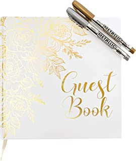 Best gold and white guest book Reviews