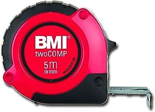 BMI 472541021 twoCOMP Mètre à ruban de poche, Blanc/noir/rouge, 5 m x 19 mm