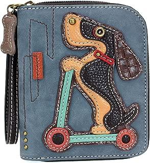 Zip Around Wallet, Wristlet, 8 Credit Card Slots, Sturdy Pu Leather
