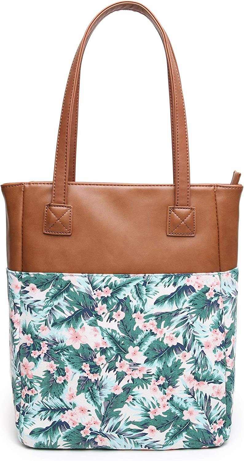 Aitbags Canvas Tote Bag for Women and Ha Leather Floral trust Weekly update Purse PU