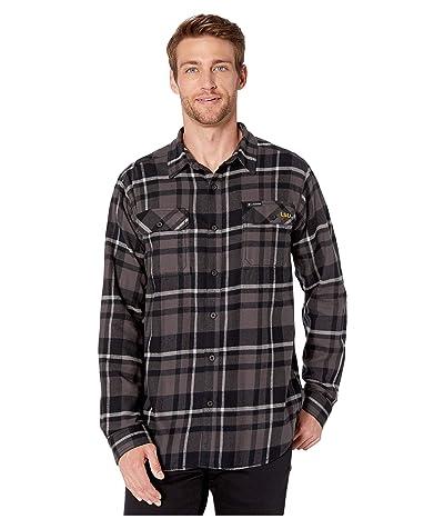 Columbia College LSU Tigers Collegiate Flare Guntm Flannel Long Sleeve Shirt (Black Plaid) Men