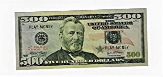X10 $500 bills best Novelty Movie Prop Fake REAL LOOKING Play Money COPY