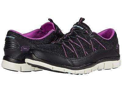 SKECHERS Gratis My Business (Black/Purple) Women