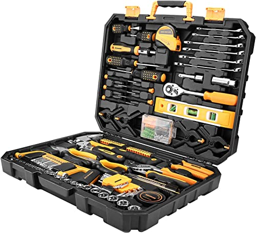 popular MERRCO 168-Piece Household Tool Kit, General 2021 Auto Repair Tool Set with Pliers, Screwdriver Set, Wrench Socket online Kit with Plastic Toolbox Storage Case sale