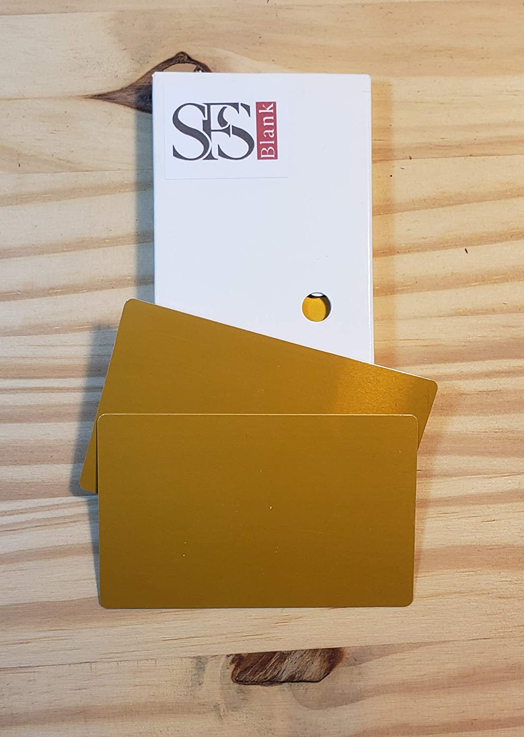 25 cheap pieces Directly managed store Blank Gold Sublimation Metal 0 Name Card 3. 32mm Thick