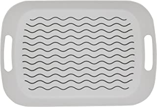 ChopMaster Large Rectangular Anti Slip Serving Tray with Handle (White)