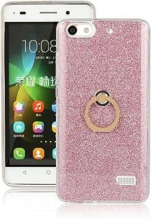 pinlu Funda Para Huawei G Play Mini/Honor 4C Anti-Arañazos Función Flash Brillante Suave TPU Silicona Case Ultra Delgada Hebilla del Anillo Soporte Diseño Rosa