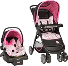 Best Disney Baby Minnie Mouse Amble Quad Travel System Stroller with Onboard 22 LT Infant Car Seat (Garden Delight) Review