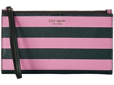 Kate Spade New York Large Continental Wristlet (Pink Multi) Wallet Handbags