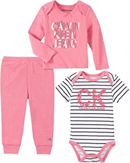 Calvin Klein Baby Girls 3 Pieces Pants Set