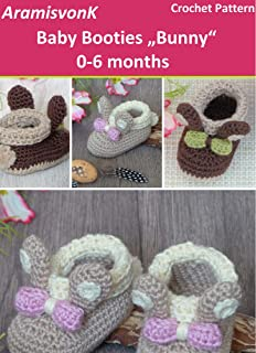 "Baby Booties ""Bunny"", 0-6 months: Crochet Pattern"