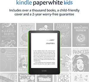 Introducing Kindle Paperwhite Kids   Includes over a thousand books, a child-friendly cover and a 2-year worry-free guarantee, Emerald Forest