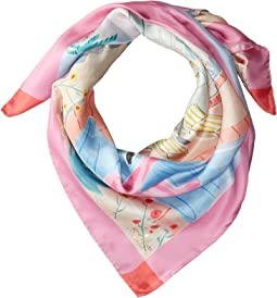 Palm Springs Pool Silk Square Scarf