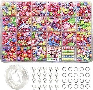 EWPARTSES 24 Clases Abalorios Perlas de Resina Acrílica
