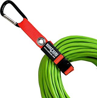 SECURE IT QUICK - Hook & Hang Strap Storage & Organizer - Hang Hoses, Cords, Tools, Drills, Ladders & More. Another Incredible Organizer! with Free Handle (BLK Base KIT - W/Hooks(2) Green (2) Orange)