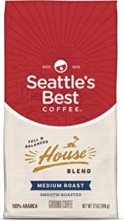 Seattle's Best Coffee House Blend Medium Roast Ground Coffee, 12 Ounce (Pack of 1)