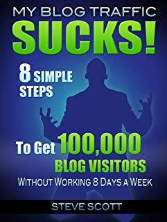 My Blog Traffic Sucks! 8 Simple Steps to Get 100,000 Blog Visitors without Working 8 Days a Week