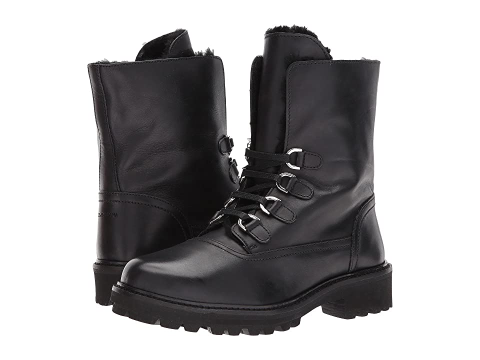 Dolce & Gabbana Kids Lace-Up Boot (Big Kid) (Black) Boys Shoes