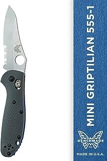 Benchmade Knife 555S-1 Mini Grip Satin Blade Gray Blue G10