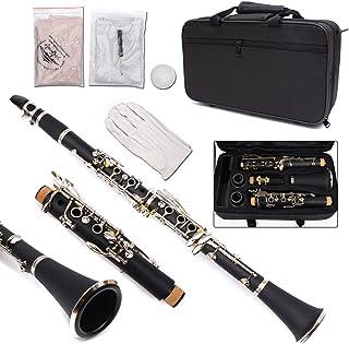 Yinfente Clarinete Profesional Ebonite Madera B Flat 2