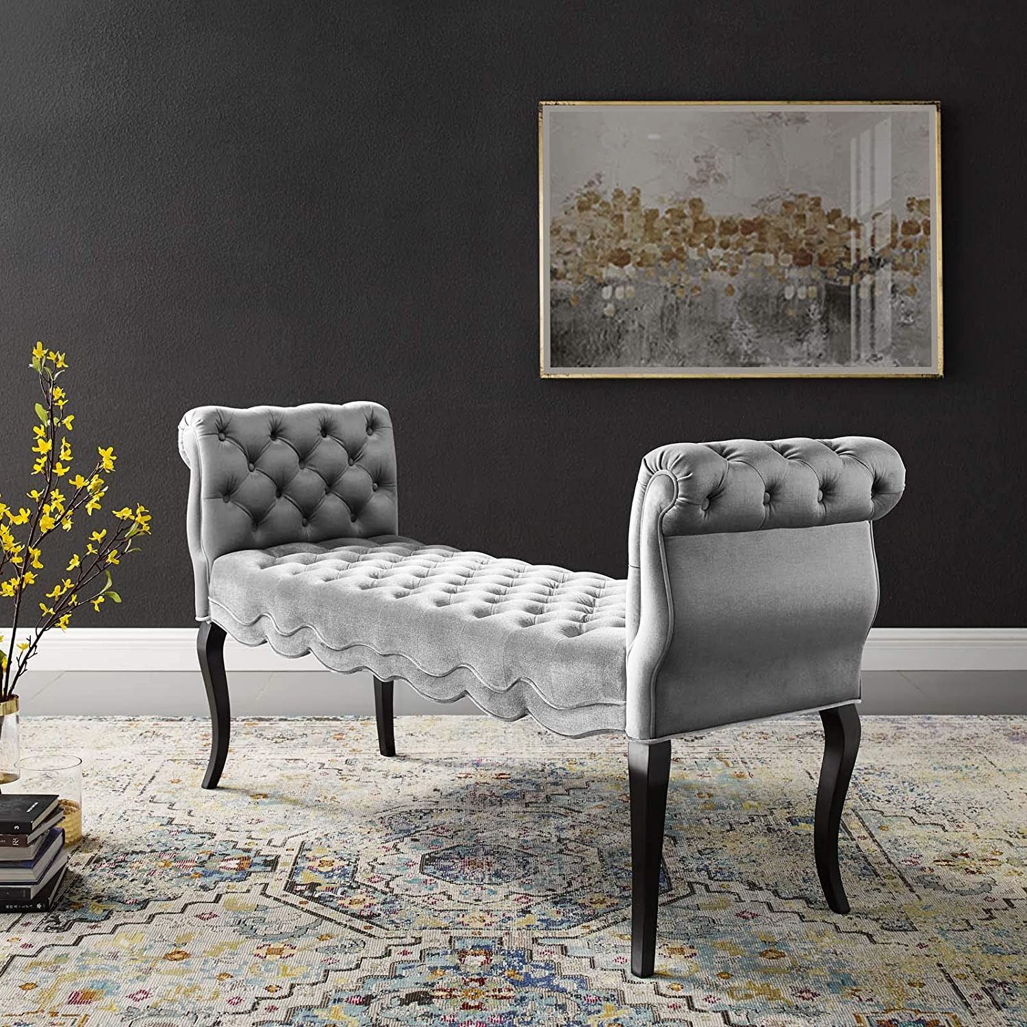 Modway Adelia Chesterfield Style Performance Time sale Ranking TOP9 Velvet Ben Entryway