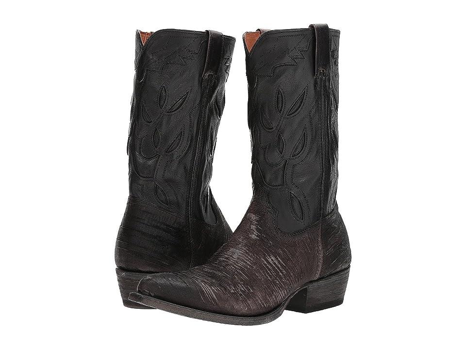 Frye Cheyenne 11L (Charcoal Multi Cut Vintage Leather/Full Grain Brush-off) Cowboy Boots