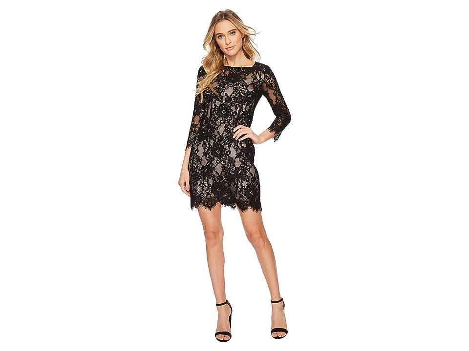 BB Dakota Hale Two-Tone Lace Dress (Black) Women