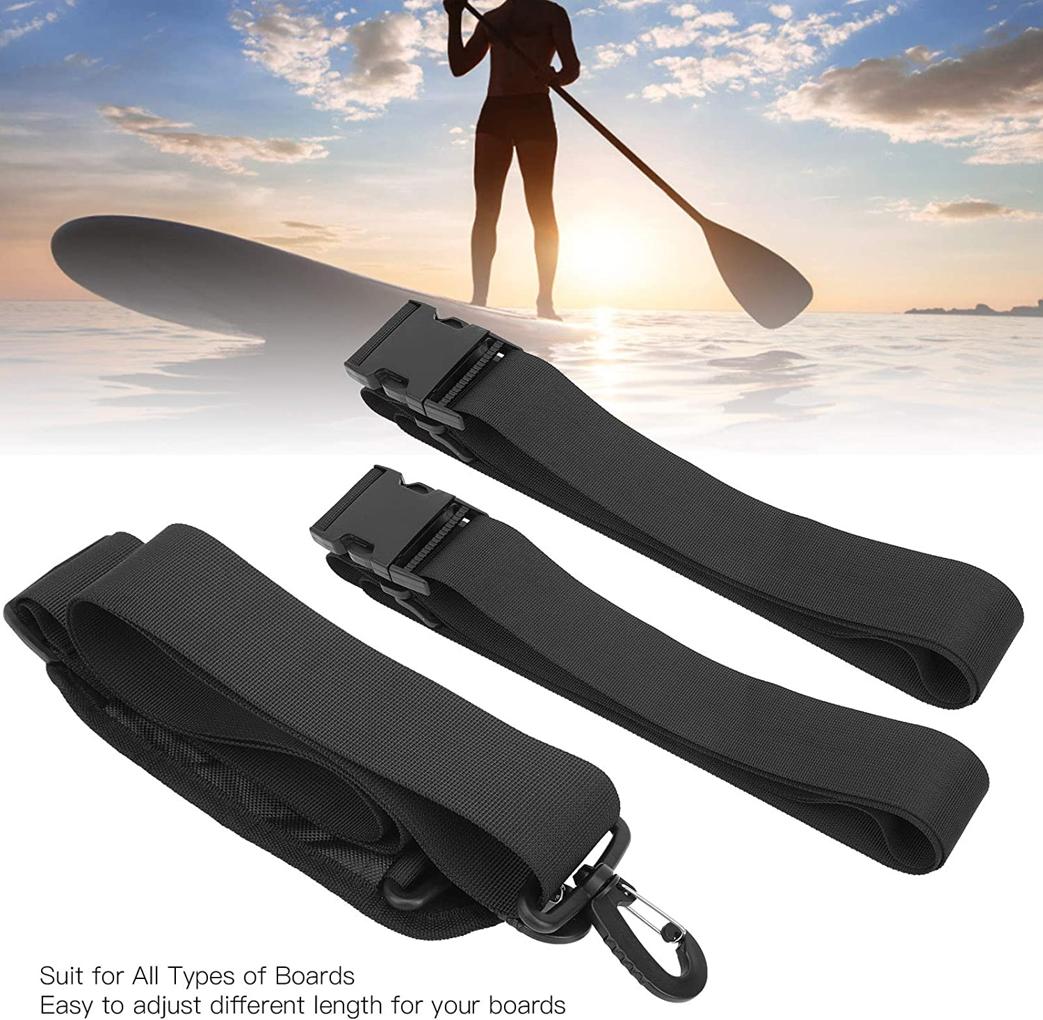 Fybida Canoeing Webbing Poly Strapping Surfing Webbing Rope Sturdy Surfboard Bandage for Outdoor