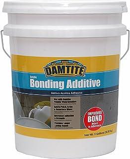 DAMTITE WATERPROOFING 05500 Damtite Bonding Additive, 5 Gal, Acrylic Liquid, White