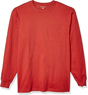Amazon Essentials Men's Long-Sleeve Heavyweight Workwear Pocket T-Shirt