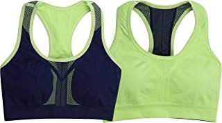 ToBeInStyle Sports Bras for Women - Reversible Racerback Double Layered Compression