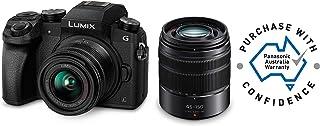 Panasonic DMC-G7WGN-K Touch Screen LUMIX DMCG7 4K Camera + 14-42mm F3.5-5.6 + 45-150mm F4.0-5.6 Lens, Black (DMC-G7WGN-K)