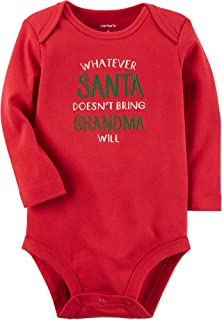 Carter's Baby Santa and Grandma Collectible Bodysuit 3 Months Red
