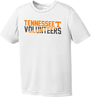 NCAA Tennessee Volunteers Youth Boys Diagonal Short sleeve Polyester Competitor T-Shirt, Youth X-Large,White