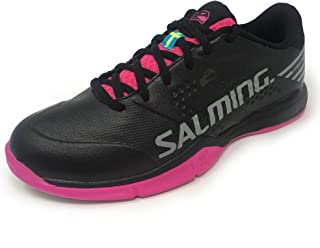 Salming Womens Viper 5 Sports Training Shoes Trainers - Black/Pink - 5 UK