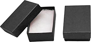 Novel Box MADE IN USA Jewelry Gift Box in Black Kraft With Removable Cotton Pad 2.5X1.8X1