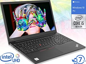 "Lenovo ThinkPad E15 Laptop, 15.6"" FHD Display, Intel Core i5-10210U Upto 4.2GHz, 8GB RAM, 256GB NVMe SSD, HDMI, Wi-Fi, Blu..."