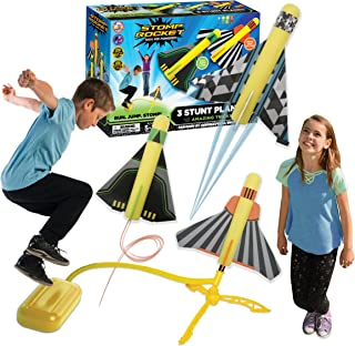 The Original Stomp Rocket Stunt Planes Launcher - 3 Foam Planes and Toy Air Rocket Launcher - Outdoor Rocket STEM Gifts fo...