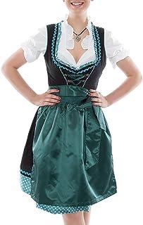 Bavarian Clothes Abverkauf Sale Dirndl Damen Trachtenkleid Kleid 3Tlg. mit Dirndlbluse Schürze Gr: 36-60 Stickerei Rüschen bepunktet Oktoberfest Wiesn Midi 3 Teilig